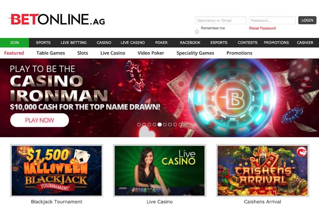 BetOnline Casino Screenshot