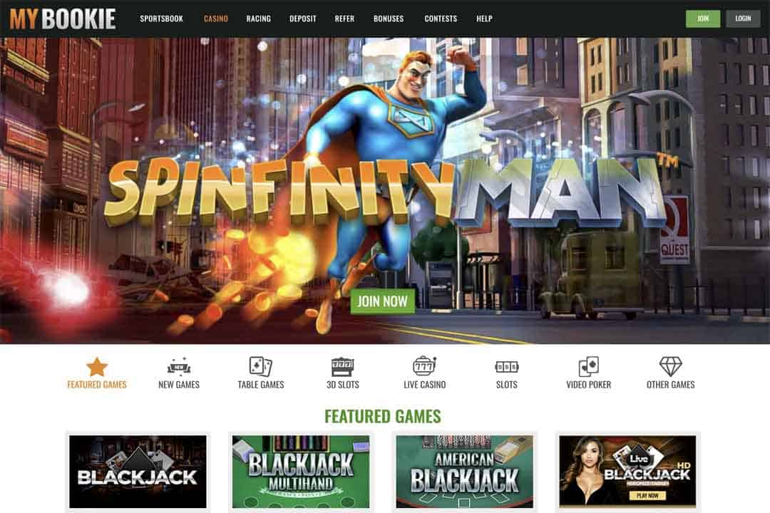 MyBookie Casino Screenshot